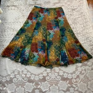 COLDWATER CREEK Multi Fall Colored Skirt Size M